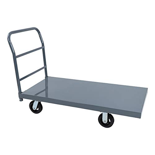 BISupply Flat Platform Truck Industrial Push Cart 48 x 24in Portable Dolly Large Flatbed with Wheels 2000lb Capacity