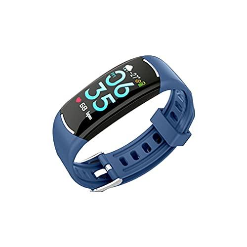 Monitor de Actividad física, Pulsera Inteligente con Pantalla a Color, medición de frecuencia cardíaca y presión Arterial, Monitor de sueño, Contador de calorías, podómetro(Color:c)