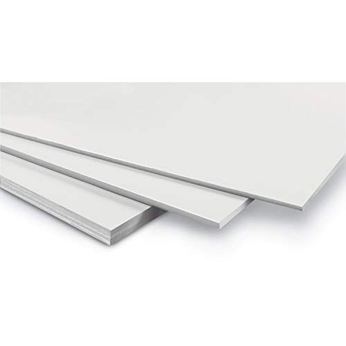 WONDAY - Cartón de espuma (3 mm, 29,7 x 42 cm), color blanco