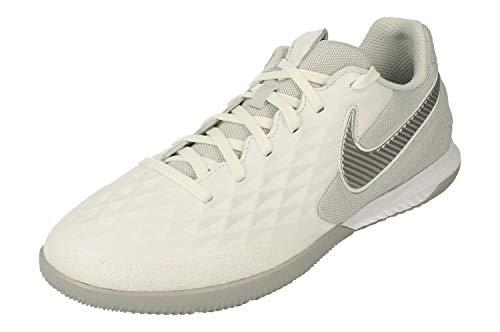 Nike React Legend 8 PRO IC, Scarpe da Calcetto Indoor Unisex-Adulto, Multicolore (White/Chrome/Wolf Grey/Pure Platinum 100), 40 EU