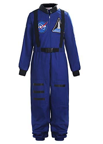 ReliBeauty Boys Girls Kids Children Astronaut Role Play Costume, Royal, 2T-3T