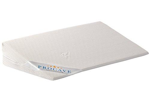 PROCAVE Bettkeil mit Bezug aus Silver Protect-Doppeltuch | Breite: 140 cm x T: 45 cm x H: 15/1 cm | Made in Germany | keilförmiges Schaumstoffkissen für Betten und Wasserbetten