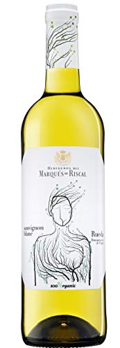 Marqués de Riscal - Vino blanco Sauvignon Blanc Denominación de Origen Rueda, Variedad 100% Sauvignon, 100% Organic con certificación ecológica - Botella individual 750 ml
