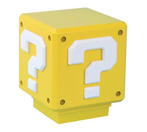 Lámpara amarilla para mesilla de Super Mario Bros, Multicolor