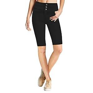 Women's Stretch Denim Skinny Jeans Capri Bermuda Short