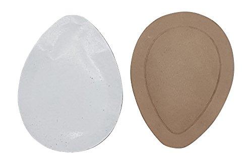 2 Paar orthopädische Taccofit Mittelfuß Pelotten Nappa Leder Pelotte in Tropfenform Spreizfuß, Unisex - Erwachsene Einlegesohle, beige, Doppelpack (38-40)