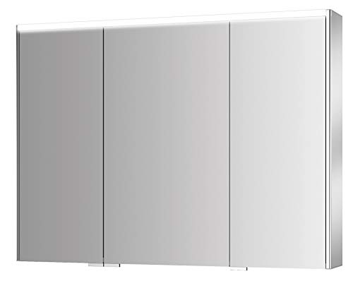 Jokey - Sieper spiegelkast decor ALU III LED 100cm eiken truffel