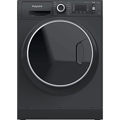 Hotpoint NLLCD 1064 DGD AW UK N Freestanding Washing Machine, ActiveCare, Steam Function, 10KG, 1600RPM, Dark Grey