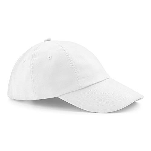 Beechfield Low profile heavy cotton drill cap in White