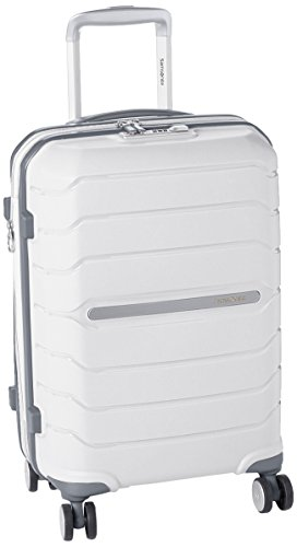 Samsonite Octolite Spinner Unisex Small White Polypropylene Luggage Bag TSA Approved I72005004