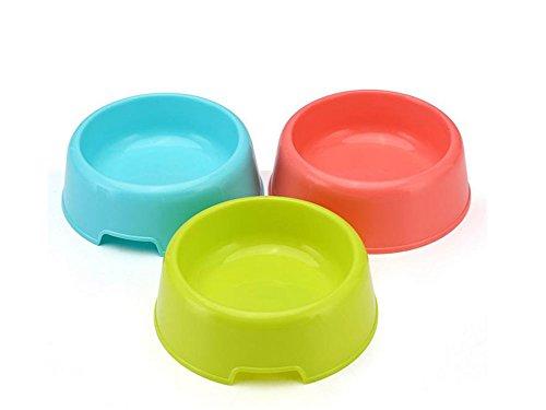 Vikenner 3 Stück Fressnapf Klein Futternapf für Hunde und Katzen Kunststoff 3 Stück Napf Hundenapf Katzenapf 13.8 * 12 * 4.2cm