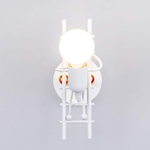 JLXW Lampade da Parete Design Creativo Illuminazione Interna e27 Applique da Parete Moderne Decorative Illuminazione per Nursery Soggiorno corridoio corridoio Scale Applique da Parete,Bianca