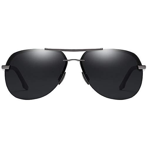 Stella Fella Trend New Street Shooting - Gafas de sol polarizadas con material de metal salvaje para hombres y mujeres con las mismas gafas de sol de conducción (color: negro)