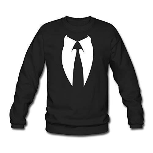 Spreadshirt Anonymous Anzug Krawatte Unisex Pullover, M, Schwarz