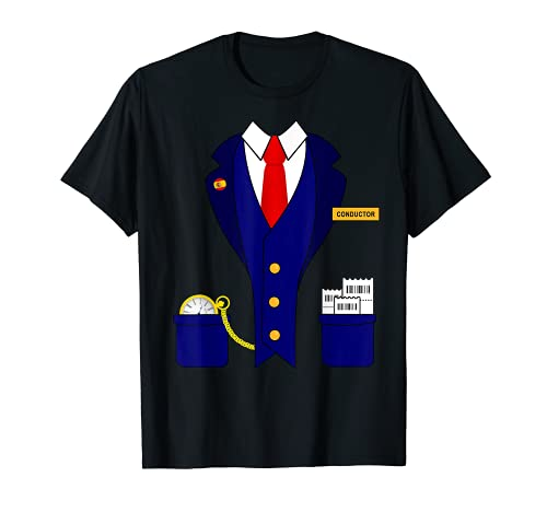 Disfraz de conductor de tren divertido modelo de conductor Camiseta