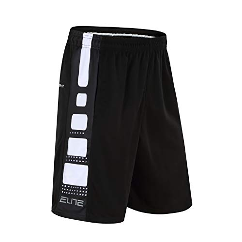 lfly Men's Shorts Active Performance Basketball Pants With Pockets, Loose-Fit Gym Training& Running Shorts(M-3XL) black-C-XXXL