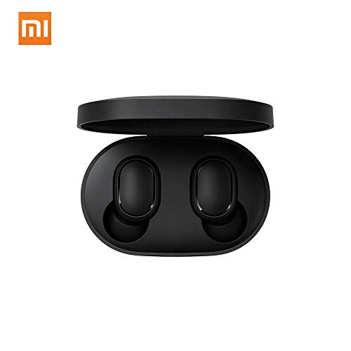 Xiaomi TWSEJ04LS Redmi Airdots Earphones, Bluetooth, Sweatproof, True Wireless Earbuds, Global Version - Black, Small