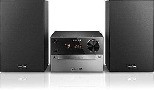 Philips - Microcadena (Microcadena de música para uso doméstico, Negro, Plata, 1 discos, Bandeja, 30 W, 10,2 cm)