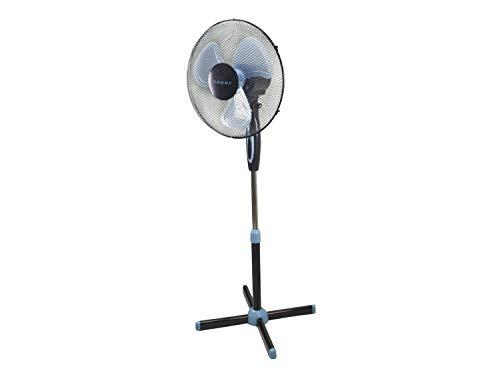 Beper P206VEN100 Ventilador de Pie, 35 Watt, Metal /ABS, Diámetro 40 cm, 3 Palas,3 Velocidad, Oscilación e Inclinación ajustable, Negro