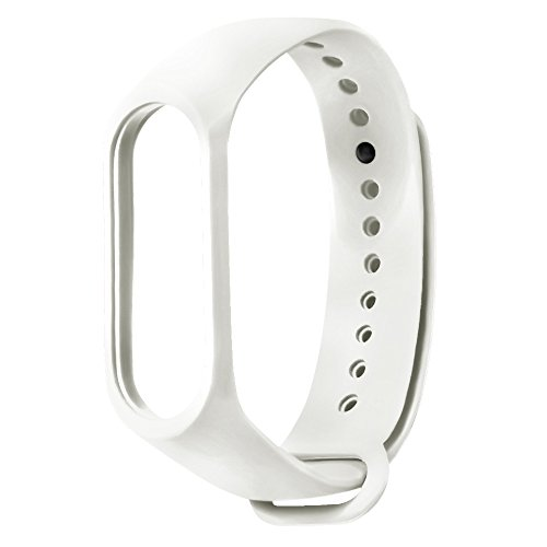 QXLhxuIo Reemplazo para Correa de Recambio para Pulsera Actividad XIAOMI MI Band 3 Wireless Correa Reloj (No Host), Ajustable,Impermeable Compatible con Unisex, Diseño Colorido Correa (Blanco)