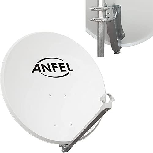 Parabola Satellitare 80 cm Supporto Disco in Ferro - Disco in Acciaio - Ideale per Zone Ventilate e per Ricevere i Canali MySky Sky HD SkyQ 4K Tivusat tivùsat UHD
