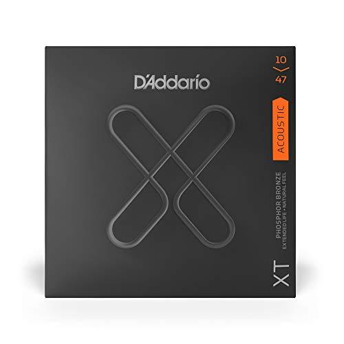 D'Addario XTAPB1047, XT Gitarrensaiten, westerngitarre & Akustikgitarre aus Phosphorbronze, Light, 10-47