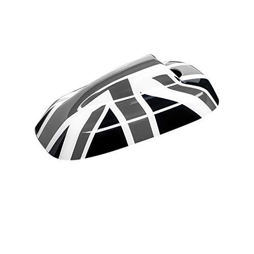DMKJ Carcasa Decoración Antena Señal Radio Coche para M-INI para C-ooper S para J-CW para O-NE F54 F55 F56 F57 F60 Pegatina 3D Modificación Coche (Color : Black Grey Flag, Talla : F54 F60)