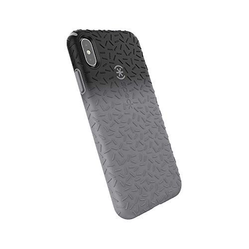 Speck Products CandyShell Fit iPhone Xs Max Case, Black Ombre Gunmetal/Gunmetal Grey