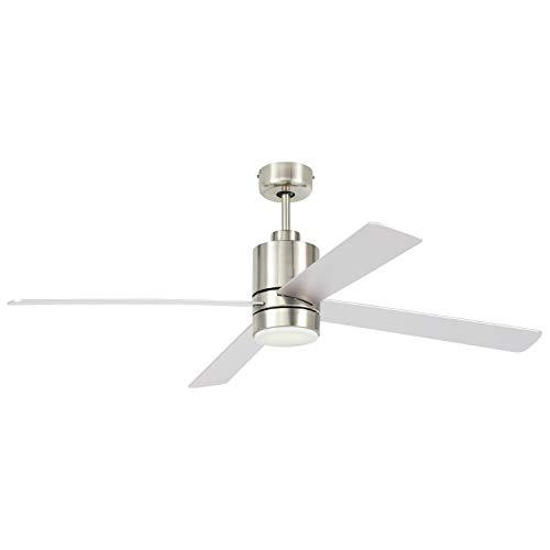 Marque Amazon - Ventilateur de plafond encastré à télécommande à base cylindrique moderne avec ...