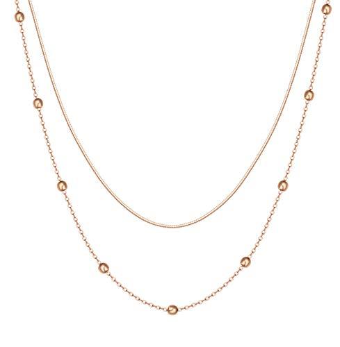 Happiness Boutique Ladies Multi-row Necklace Collana in filigrana con perline