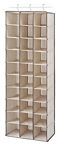 Whitmor 6470-4831 Hanging Shoe Shelves, 30 Sections