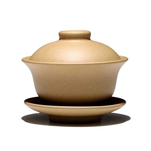 Gaiwan, Tazón de té de 160 ml Té Púrpura Natural Tea Tureen Master Taza Tapa Lid Set, Juego de té de Kung Fu, Tetera de contenedor de Utensilios de té