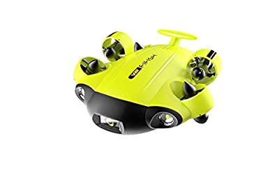 QYSEA FIFISH V6 Underwater Drone ROV with 4K UHD Camera, VR Headset, Dive to 330ft, 166° FOV, 4000lm LED Support 360° Movement, Posture Lock, Slow Motion, Image Stabilization, APP Control
