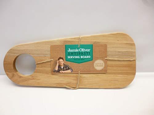 Jamie Oliver - Tagliere da portata, in legno di quercia, 45 x 19 cm