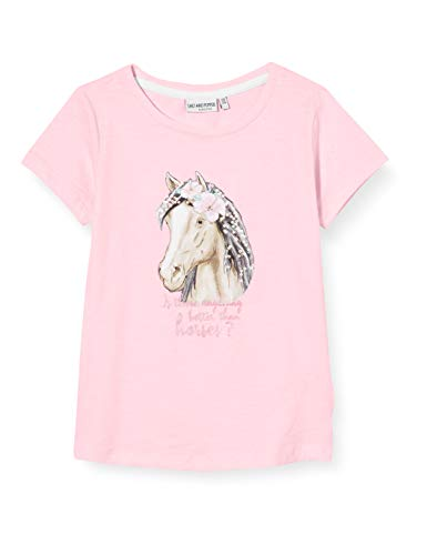 Salt & Pepper Mädchen 03112271 T-Shirt, Rosa (Soft Pink 824), (Herstellergröße: 104/110)