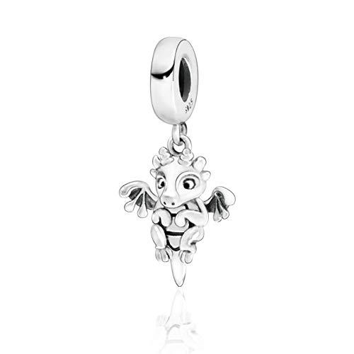 LILANG Pulsera de joyería 925 Pandora Natural Nueva colección de otoño Cuentas de Plata esterlina Dragón mágico Dangle Charms Fit Original DIY Gifts para Mujeres