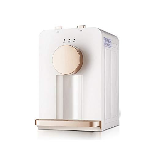 Dispensador De Agua Helada De Escritorio Mini Dispensador De Agua Fría Y Caliente para Oficina Pequeña Salida De Agua con Un Toque Calentamiento Rápido (Color : Blanco, Size : 25 * 25 * 40cm)