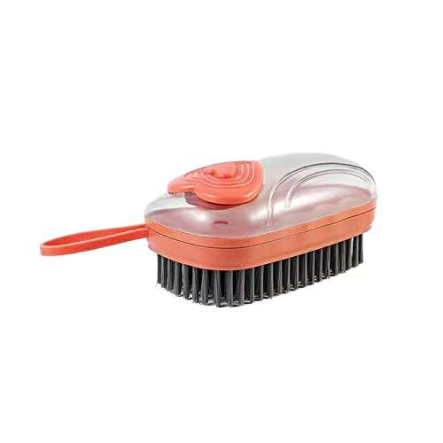 LSONE Waschbürste Haushaltswasch, Tragbare Weiche Wasch Bürste Mit Lanyard Für Wäscheschuhe (Orange)