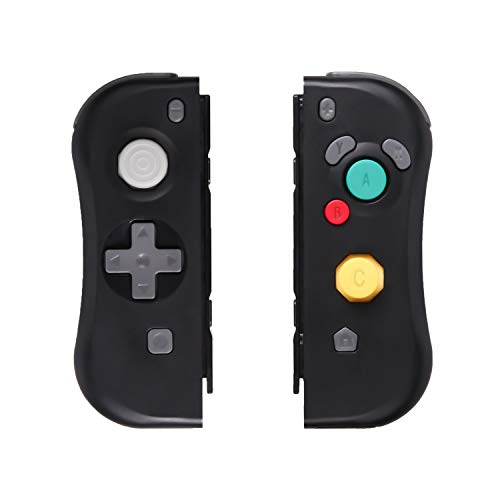 Wireless Joy Con für Nintendo Switch, SADES Joy Con (L-R) Wireless Controller Kompatibel mit Nintendo Switch Console, Switch Controller Switch Remote Controller Gamepad mit NFC Funktion - Schwarz