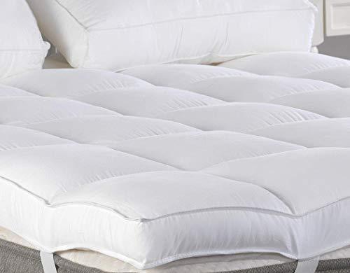 King Mattress Topper, Plush Pillow Top Mattress Pad/Bed Topper, Hotel Quality Down Alternative, 3' Thick