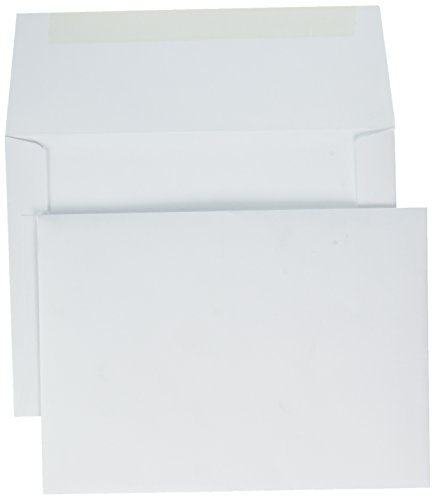 A7 Invitation Envelopes (5 1/4 x 7 1/4) - 70lb. Bright White (50 Qty) | Perfect for Invitations, Announcements, Sending Cards, 5x7 Photos | Printable | 70lb Paper | 20677-50