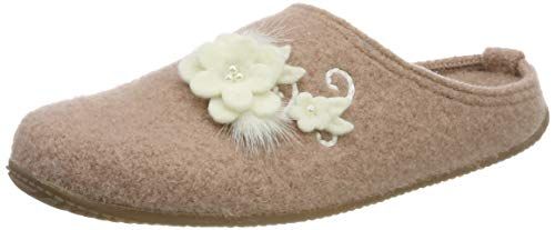 Living Kitzbühel Damen Pantoffel Hirsch Hochzeit mit Fußbett Pantoffeln, Pink (Woodrose 0334), 36 EU