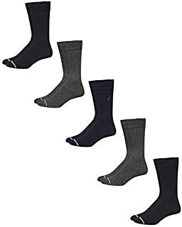 Men's Breathable Stretch Comfort Classic Solid Dress Socks (5 Pack)