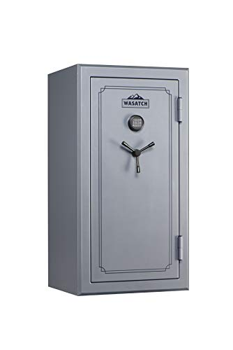 Wasatch 40-Gun Fireproof and Waterproof Safe with Electronic Lock, Gray