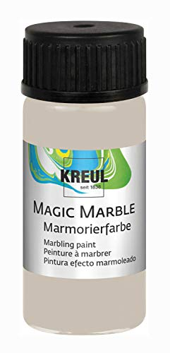 Kreul 73236 Magic Marble Marmorierfarbe, 20 ml Glas in Noble Nougat, Matte Tauchmarmorierfarbe für zufällige Musterungen und einzigartige Farbeffekte