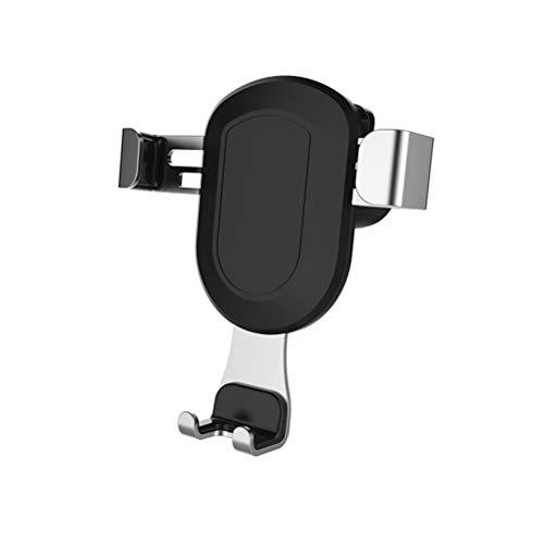 Hemobllo Autotelefonhalterung Entlüftungsöffnung Auto Schwerkraft Steckdose Telefonhalter für Windschutzscheibe Armaturenbrett Universal Autotelefonhalterung (Space Silver)