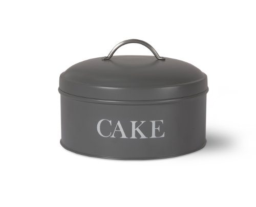 Garden Trading 1-Piece Round Cake Tin in Charcoal