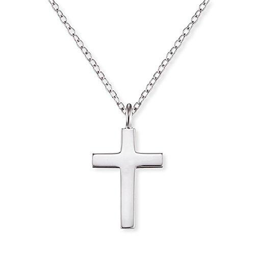 Engelsrufer Kreuz Kette mit Anhänger für Damen 925er-Sterlingsilber Länge 38 cm plus 4 cm