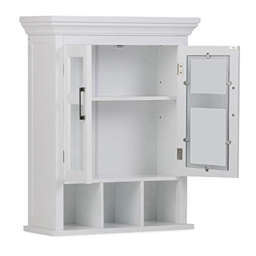 Simpli Home Avington 30 inch H x 23.6 inch W Two Door Wall Bath Cabinet with...