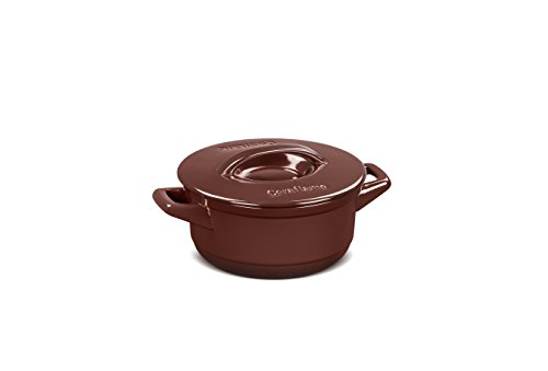 Caçarola de Cerâmica Duo+, 18cm, 1,5 Litros, Chocolate, Ceraflame